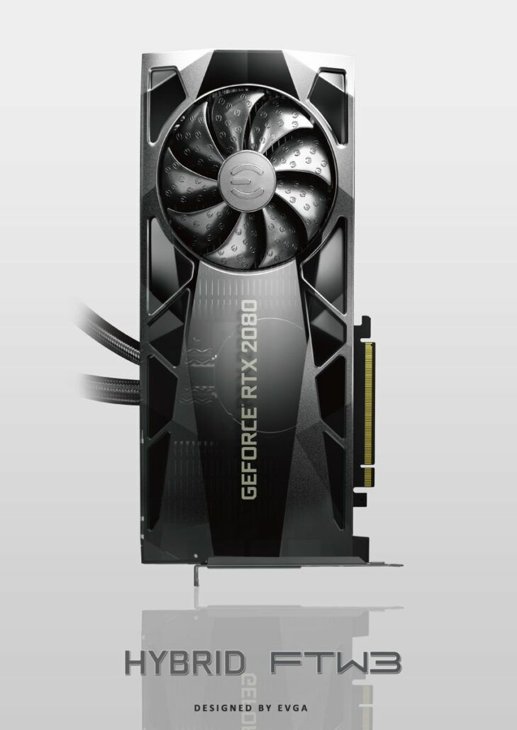 EVGA GeForce RTX 2080 Hybrid FTW3 729x1030 - EVGA Provides First Glimpse at GeForce RTX 20 Hybrid FTW3 / XC, Hydro Cooper FTW3 / XC and FTW3 Ultra Series, Custom Made Graphics Cards