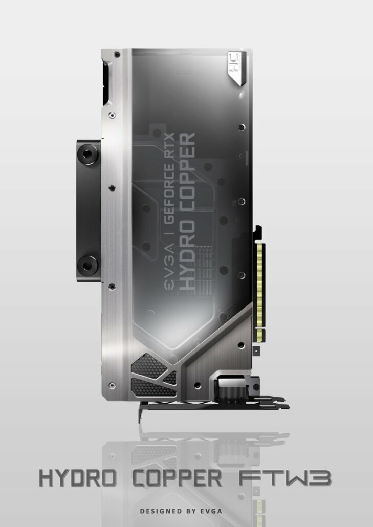 EVGA GeForce RTX 2080 Ti Hydro Copper FTW3 729x1030 - EVGA Provides First Glimpse at GeForce RTX 20 Hybrid FTW3 / XC, Hydro Copper FTW3 / XC and FTW3 Ultra Series, Custom Made Graphics Cards
