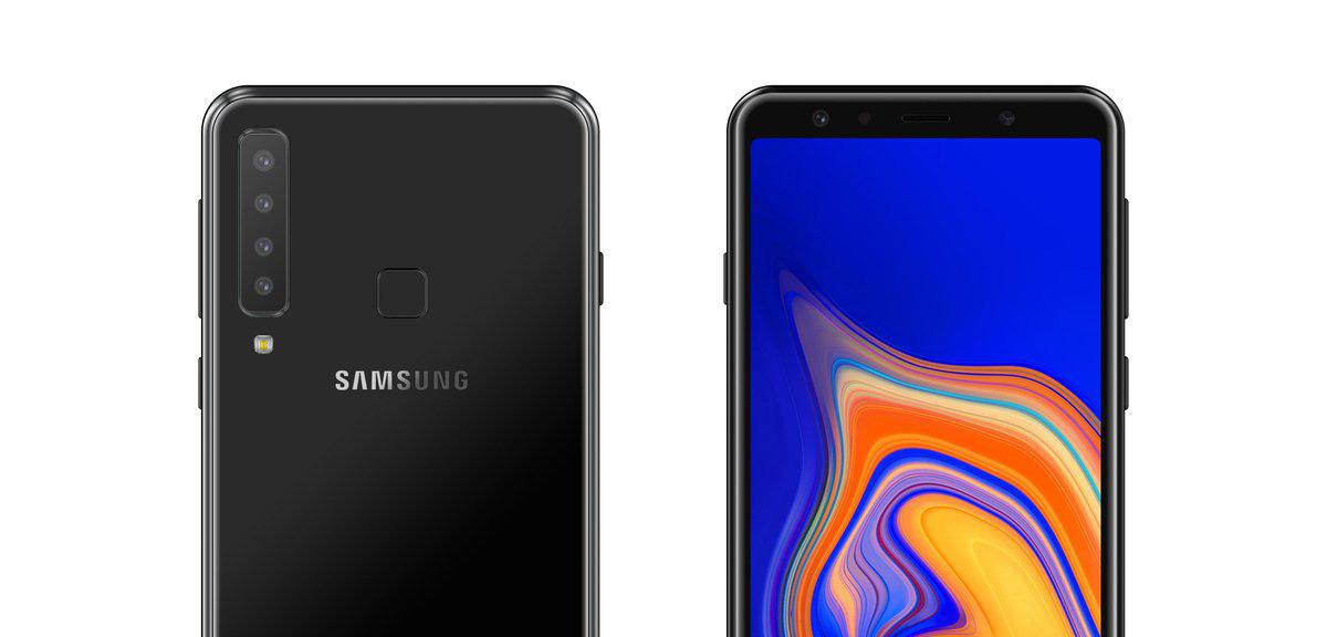 Samsung quadruple camera smartphone two lenses
