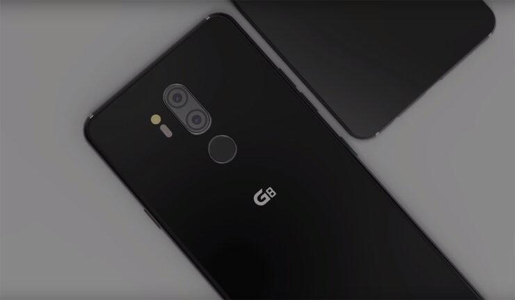 LG G8 ThinQ waterdrop notch no side bezels