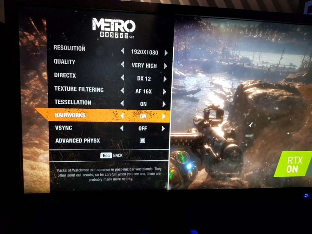 Metro Exodus Features NVIDIA HairWorks and Advanced PhysX