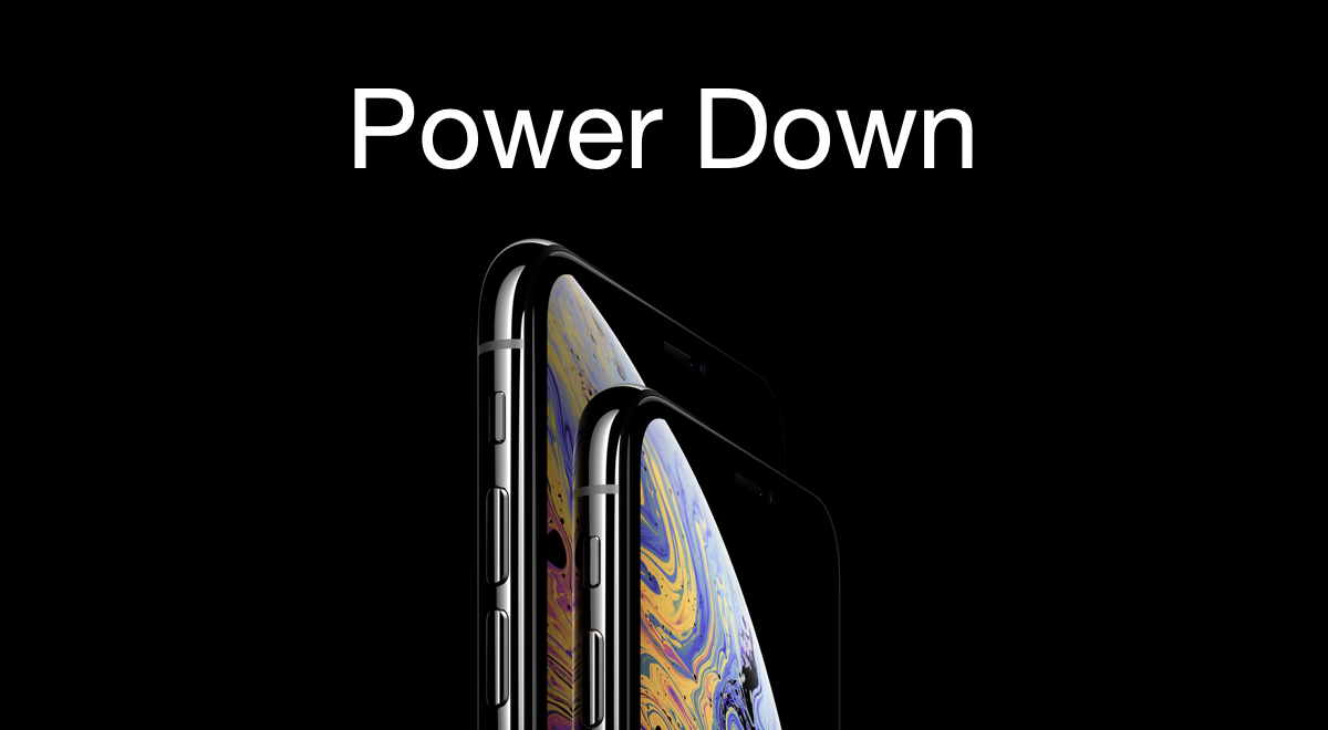 how to shut down power off iphone xs or iphone xs max tutorial