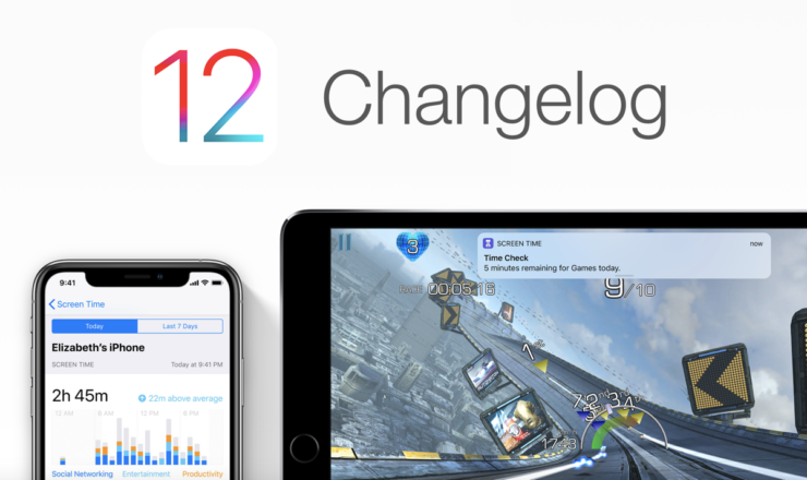 iOS 12 Changelog