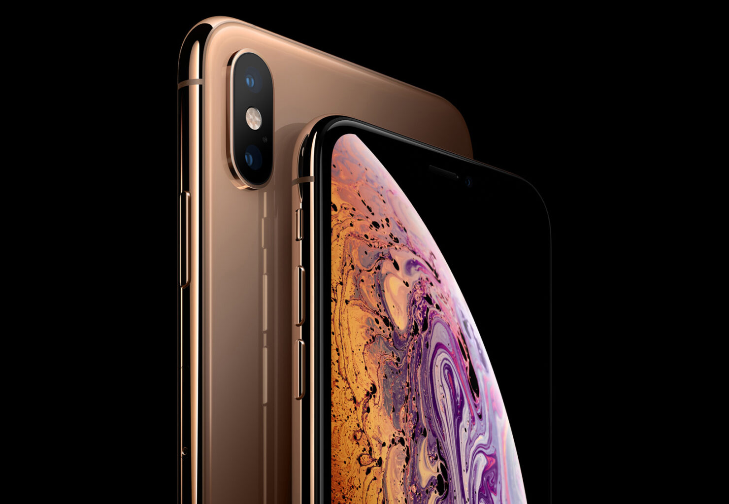 iPhone Xs Max gold color unboxing
