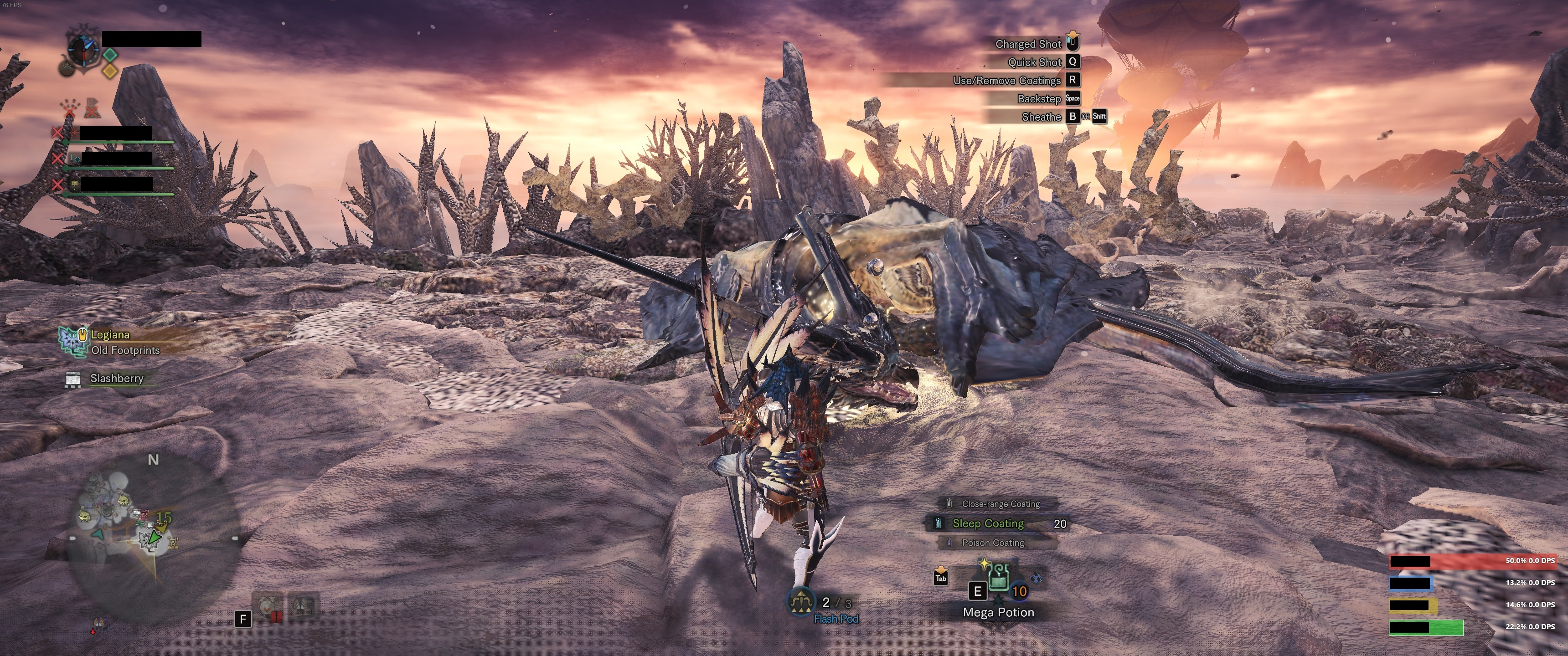 PC Monster Hunter World Damage Mods Show Damage and DPS Breakdown of