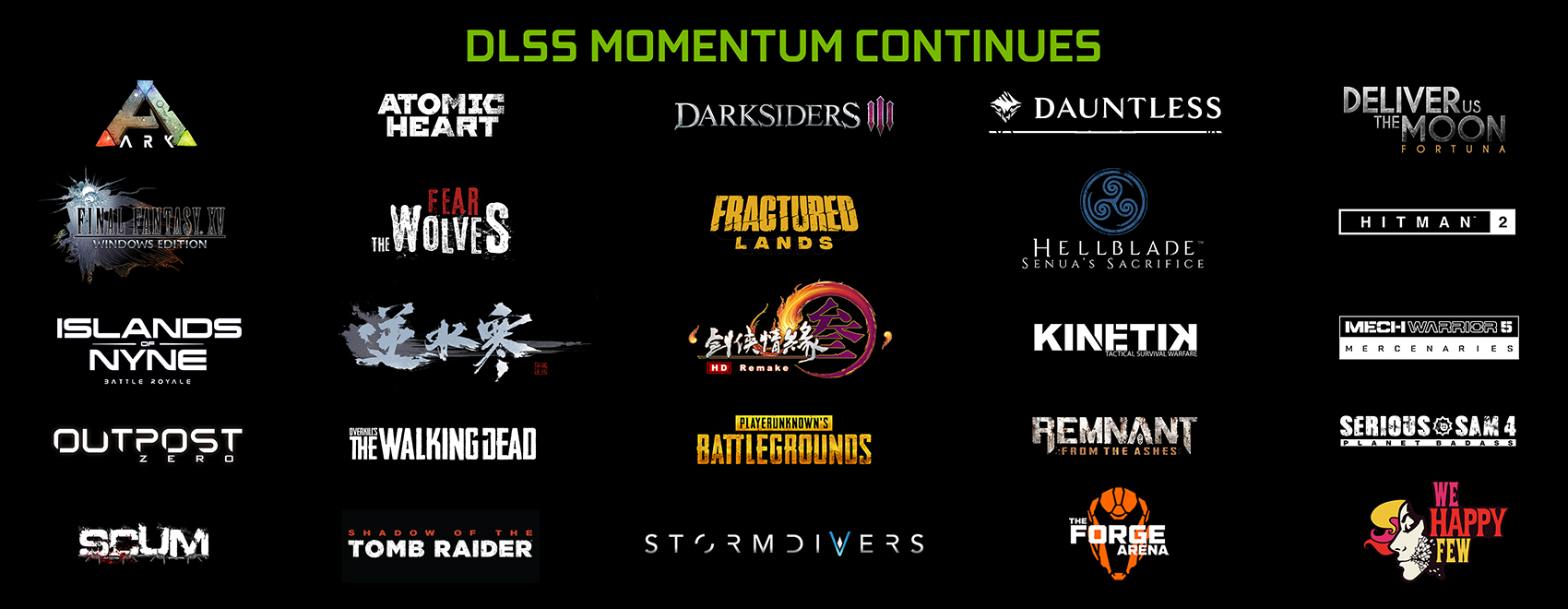 NVIDIA DLSS to be Adopted by Nine New Games Including