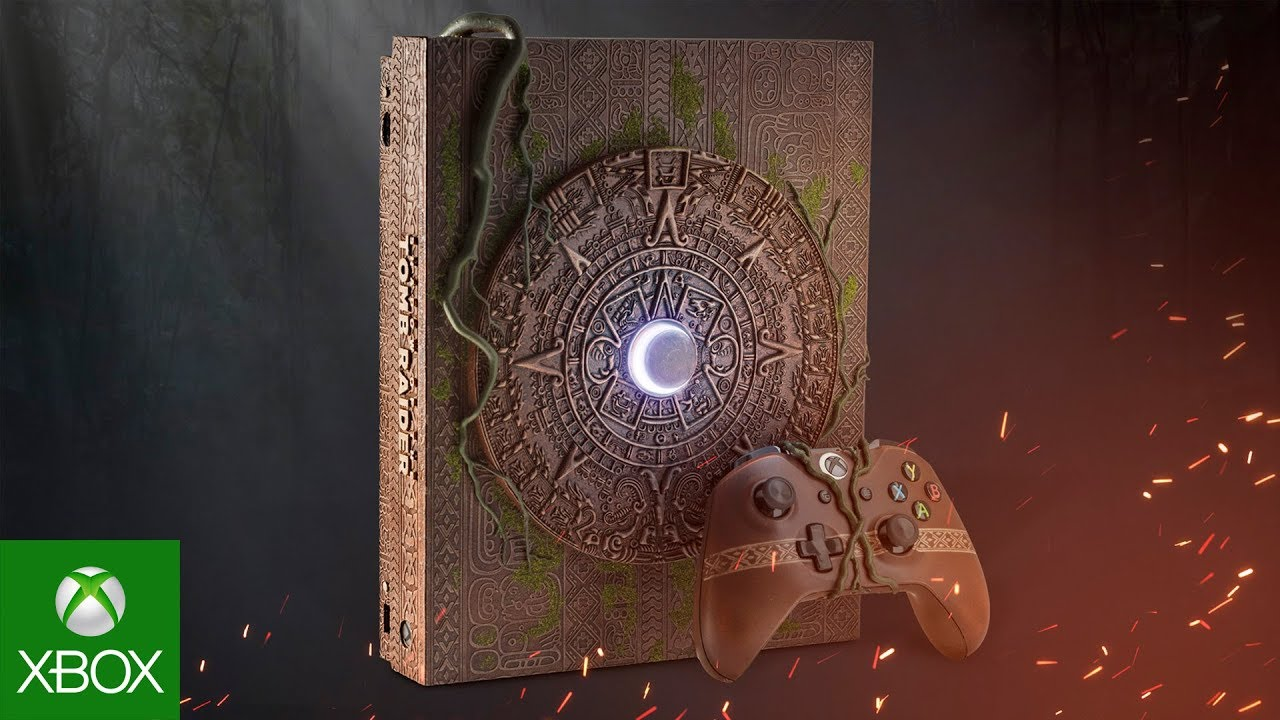 shadow of the tomb raider xbox one x console