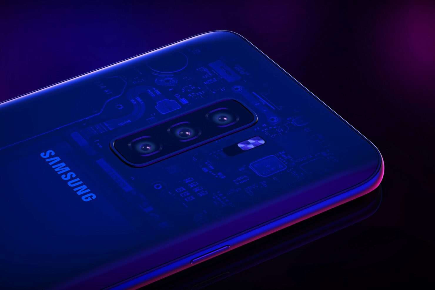 Samsung quadruple camera smartphone 2018 launch