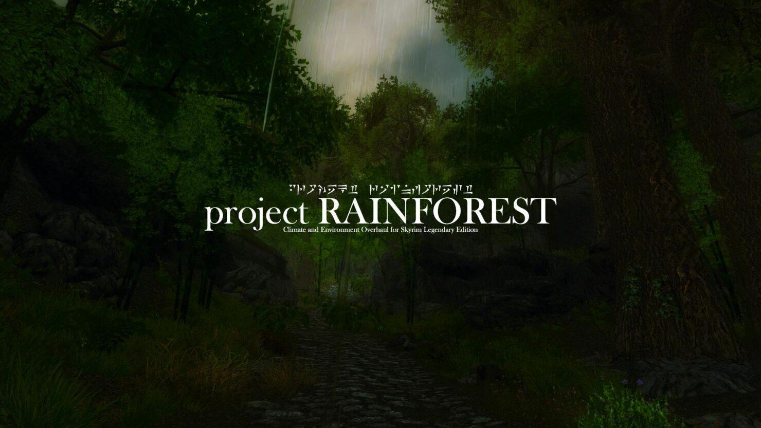 Elder Scrolls V Skyrim Legendary Edition Project Rainforest Mod Update