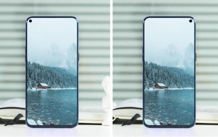 Samsung Galaxy A8s screen protector leak no bezels