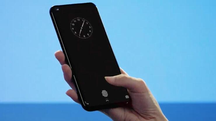 Samsung in display fingerprint scanner covers entire display
