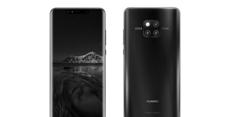 Huawei Mate 20 Pro black finish triple camera leak
