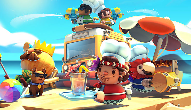 Overcooked 2 Surf N Turf DLC Heats Things Up With New Recipes Kitchens And More