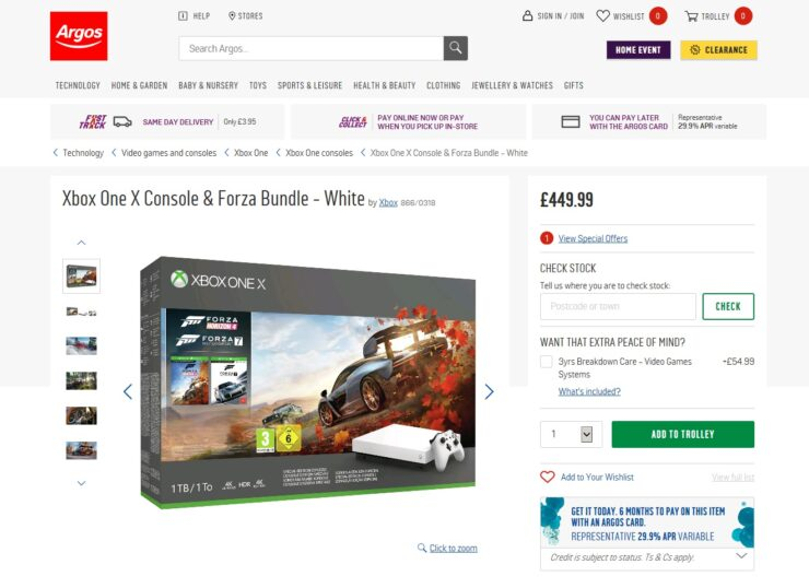 White Xbox One X forza bundle 3