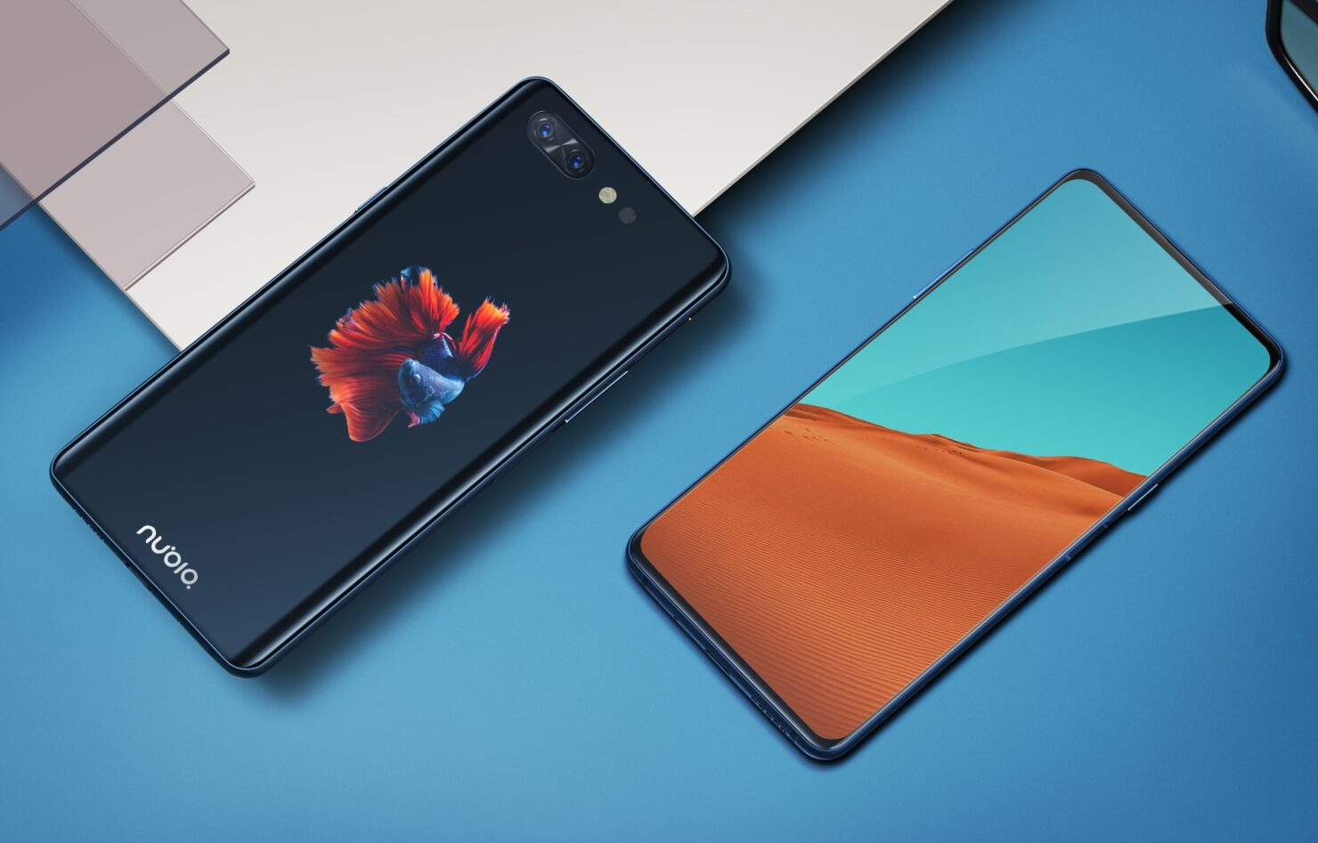 Nubia X rear screen with cameras to increase front screen to body ratio