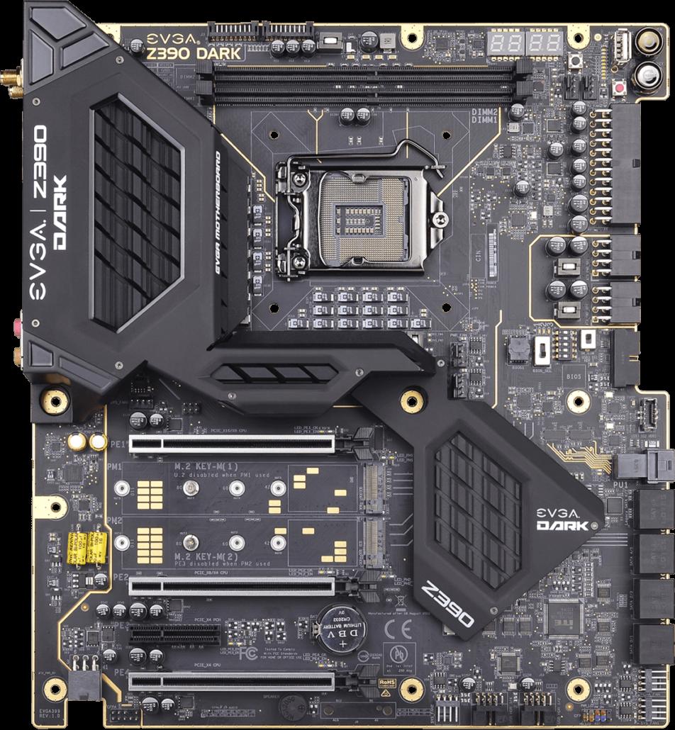 Evga Unveils Z390 Dark Overclocking Amp Z390 Ftw Motherboards