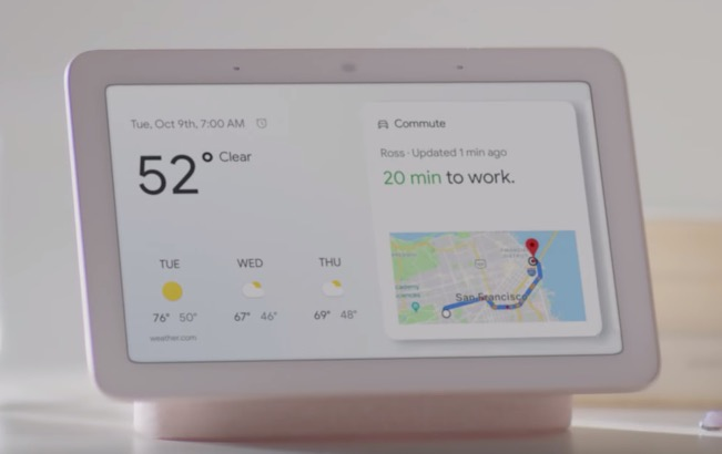 google unveils their first ever smart display the google home hub. Black Bedroom Furniture Sets. Home Design Ideas