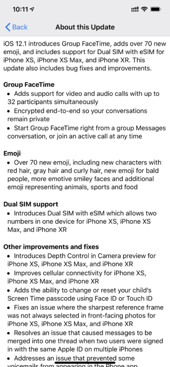 Download iOS 12 1 Final For iPhone, iPad, iPod touch [Direct IPSW Links]