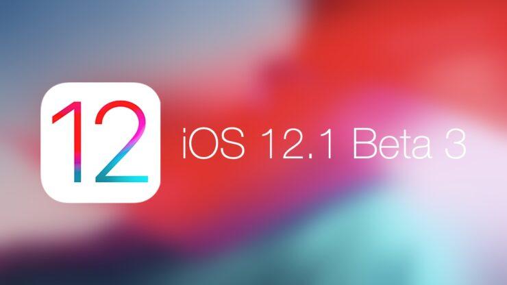 iOS 12.1 beta 3