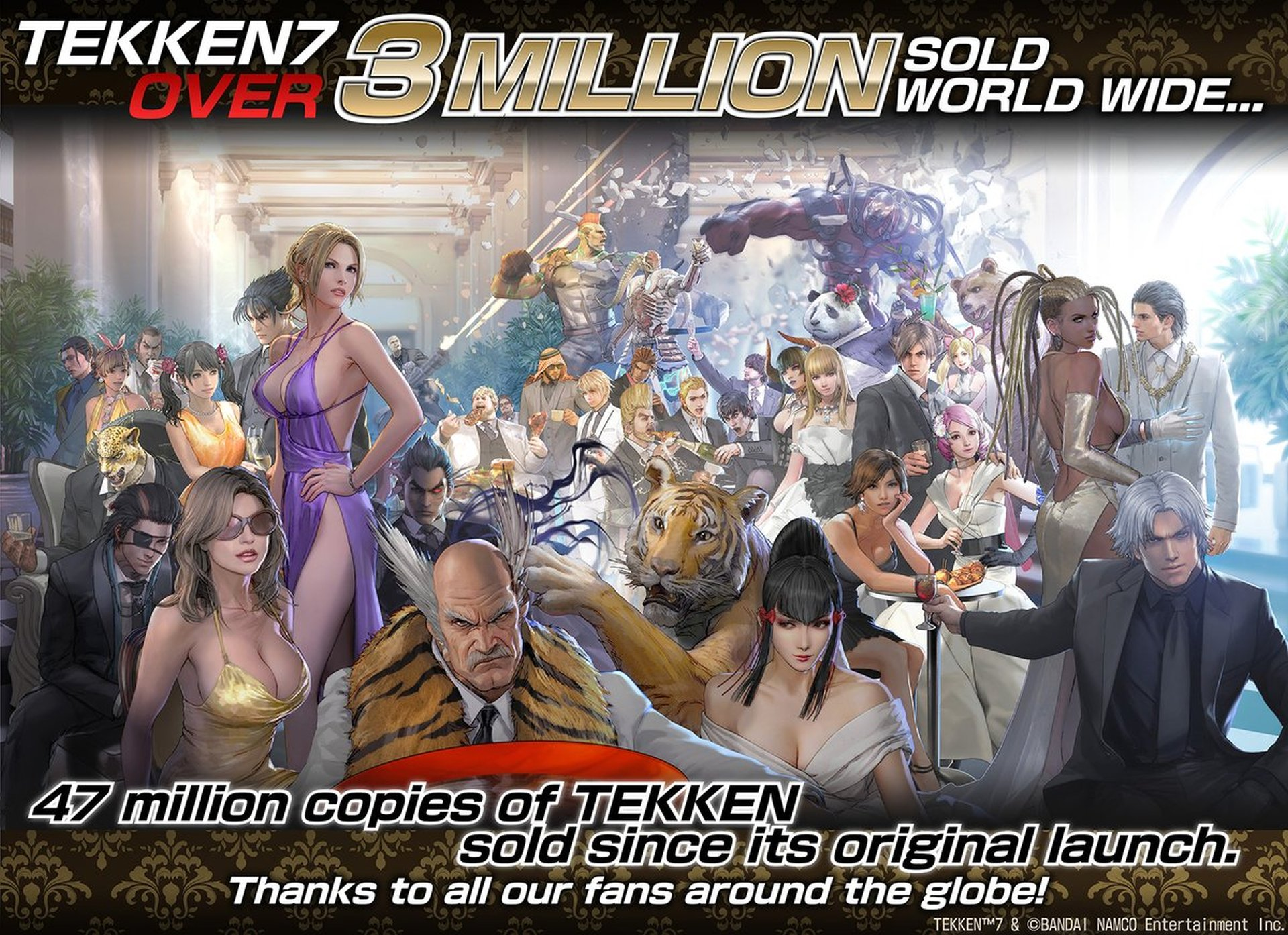 Tekken 7 Sold Over 3 Million Units Worldwide, Harada Reveals