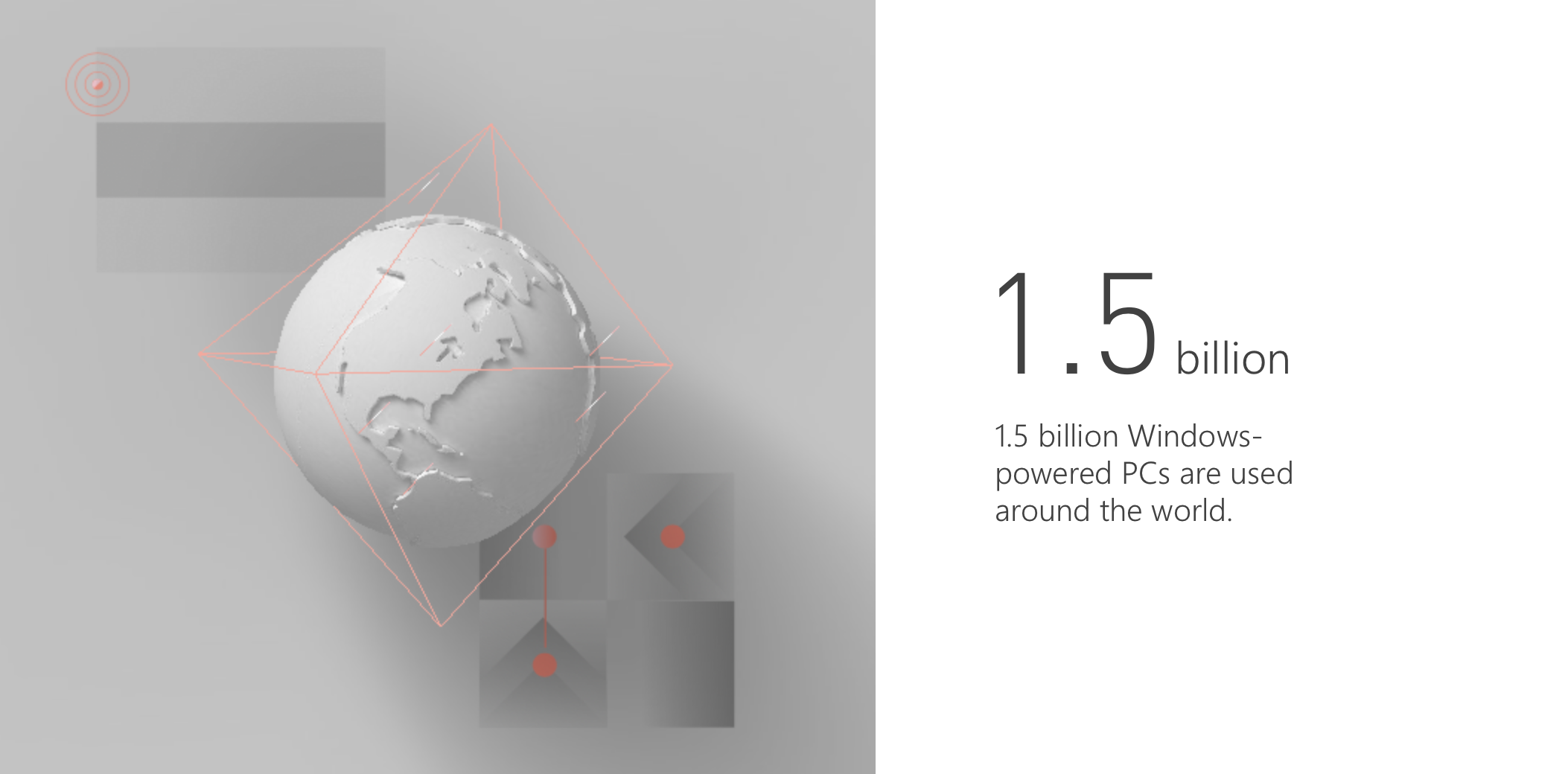 microsoft windows 1.5 billion pcs