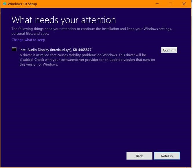 Windows 10 1809 compatibility issues