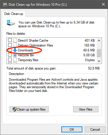 Beware! Disk Cleanup in Windows 10 October 2018 Update Can