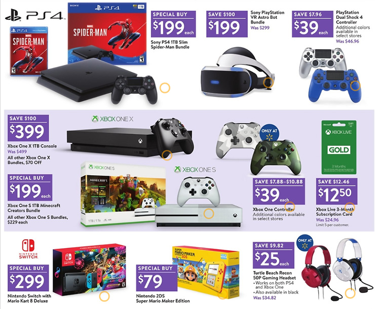 PS4 and Xbox One Bundles Only $200 at Walmart This Black Friday