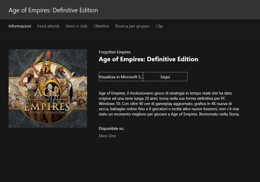 age of empire xbox one