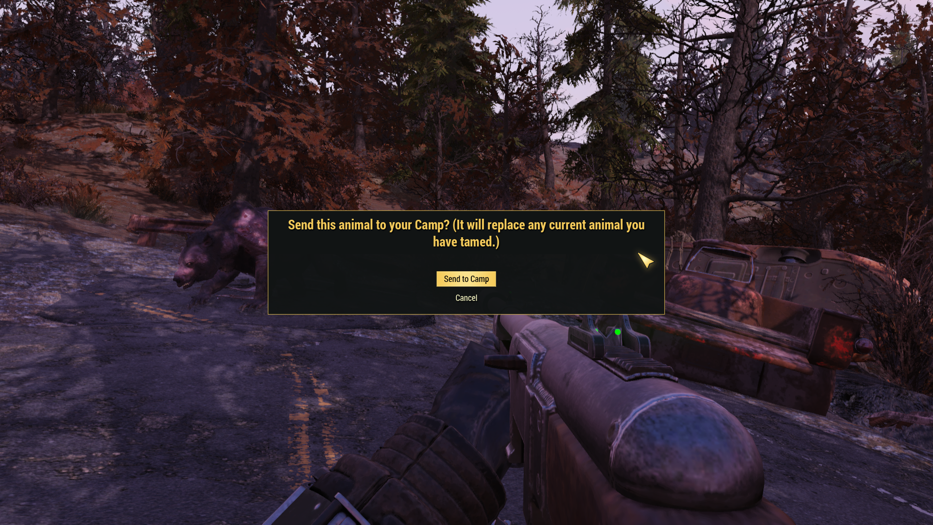 There's a Way to Tame Animals, or at Least Yao Guai Bears, in Fallout 76