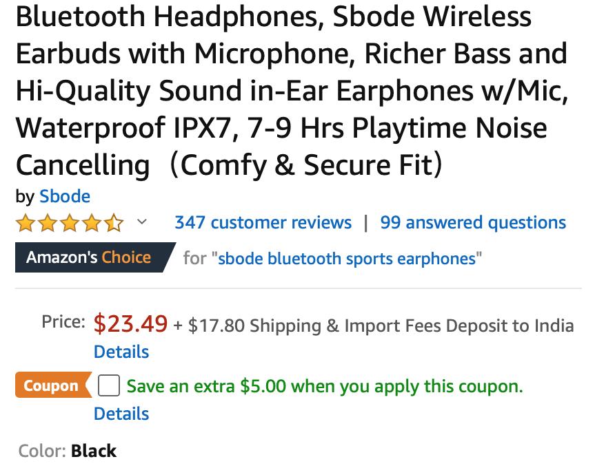 sbode earbuds deal