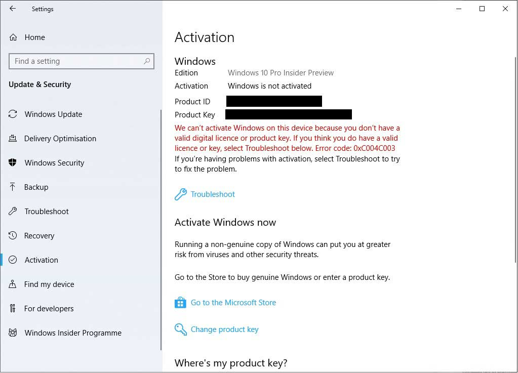 change windows 10 enterprise to pro