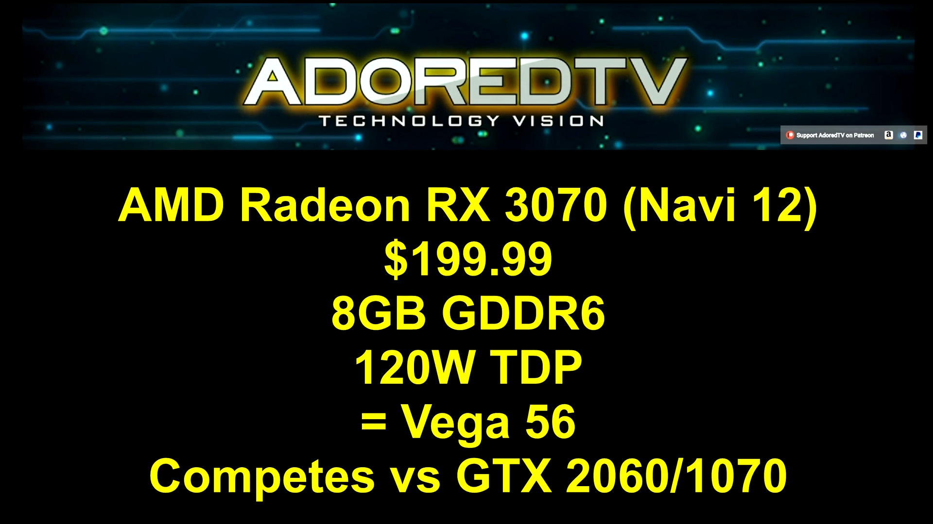 AMD Navi RX 3080, 3070 & 3060 Specs & Prices Leaked - RTX