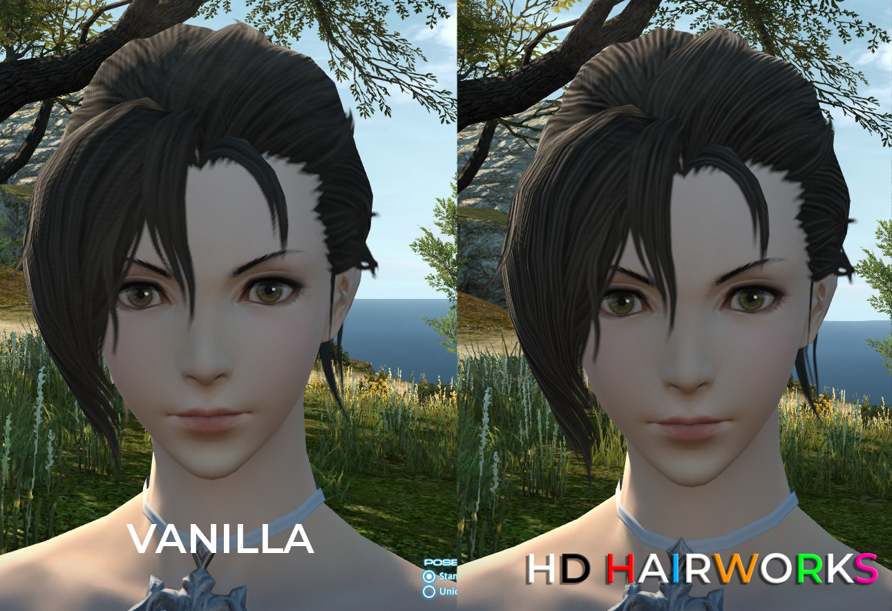 Final Fantasy XIV HD Hairworks 2 Mod Introduces Reworked Hair Textures