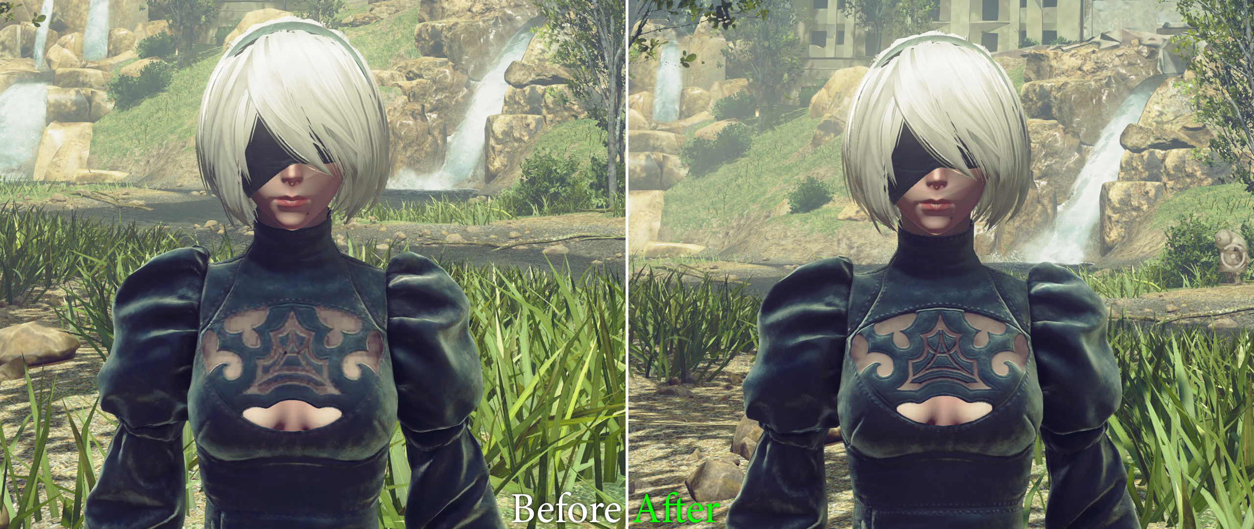 NieR Automata HD Texture Pack Fall Update adds Remastered 2B