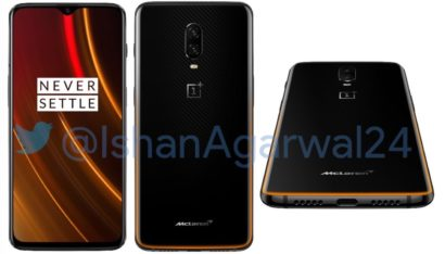 OnePlus 6T McLaren Edition Leaks With Speed Orange Highlights And 10GB RAM