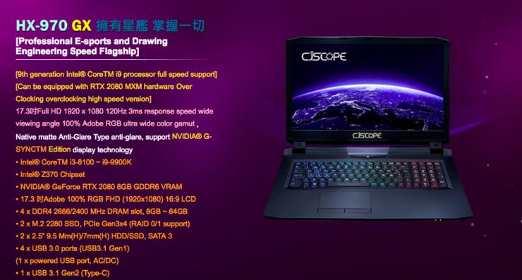 NVIDIA GeForce RTX 2080, RTX 2070, RTX 2060 Mobility Specs