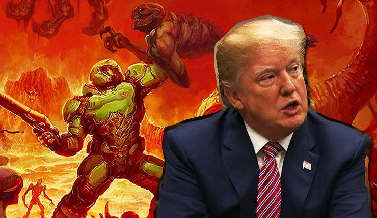 violent videogames Trump shootings