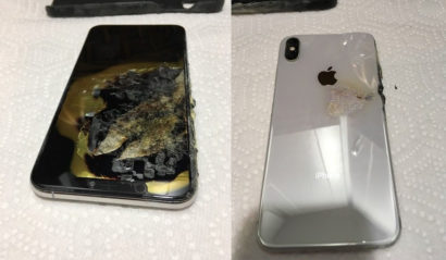 An iPhone with a battery that went bang