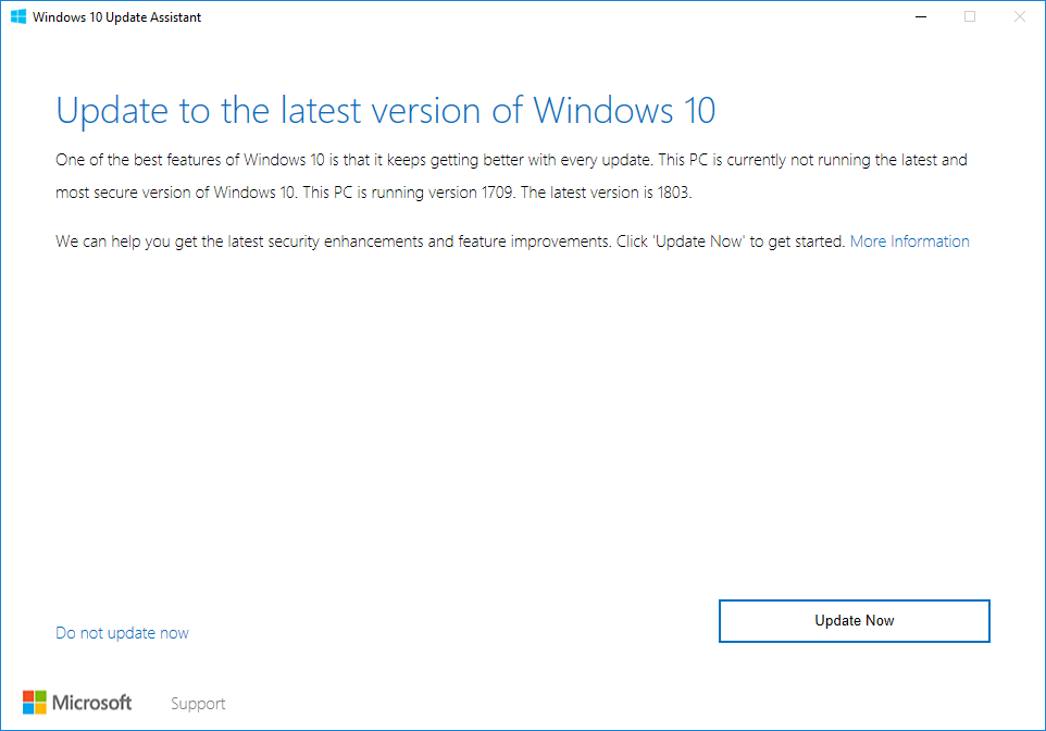 windows 10 forced update