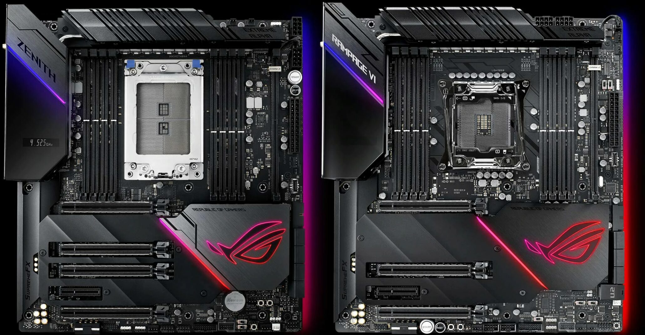ASUS ROG Zenith Extreme Alpha & Rampage VI Extreme Omega Launch