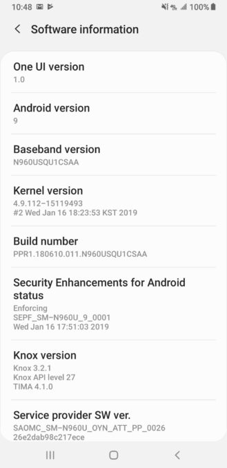 Android Pie Update Now Available for the Samsung Galaxy S9 and Note