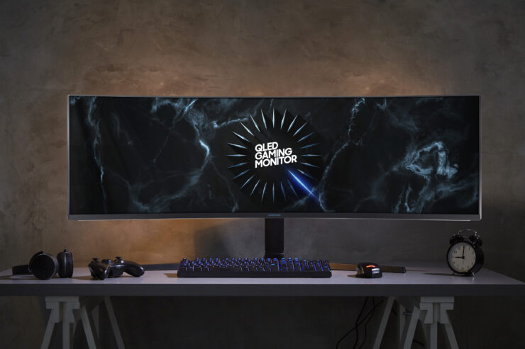Samsung's CRG9 49″ Ultrawide QLED Gaming Monitor Features 5120×1440