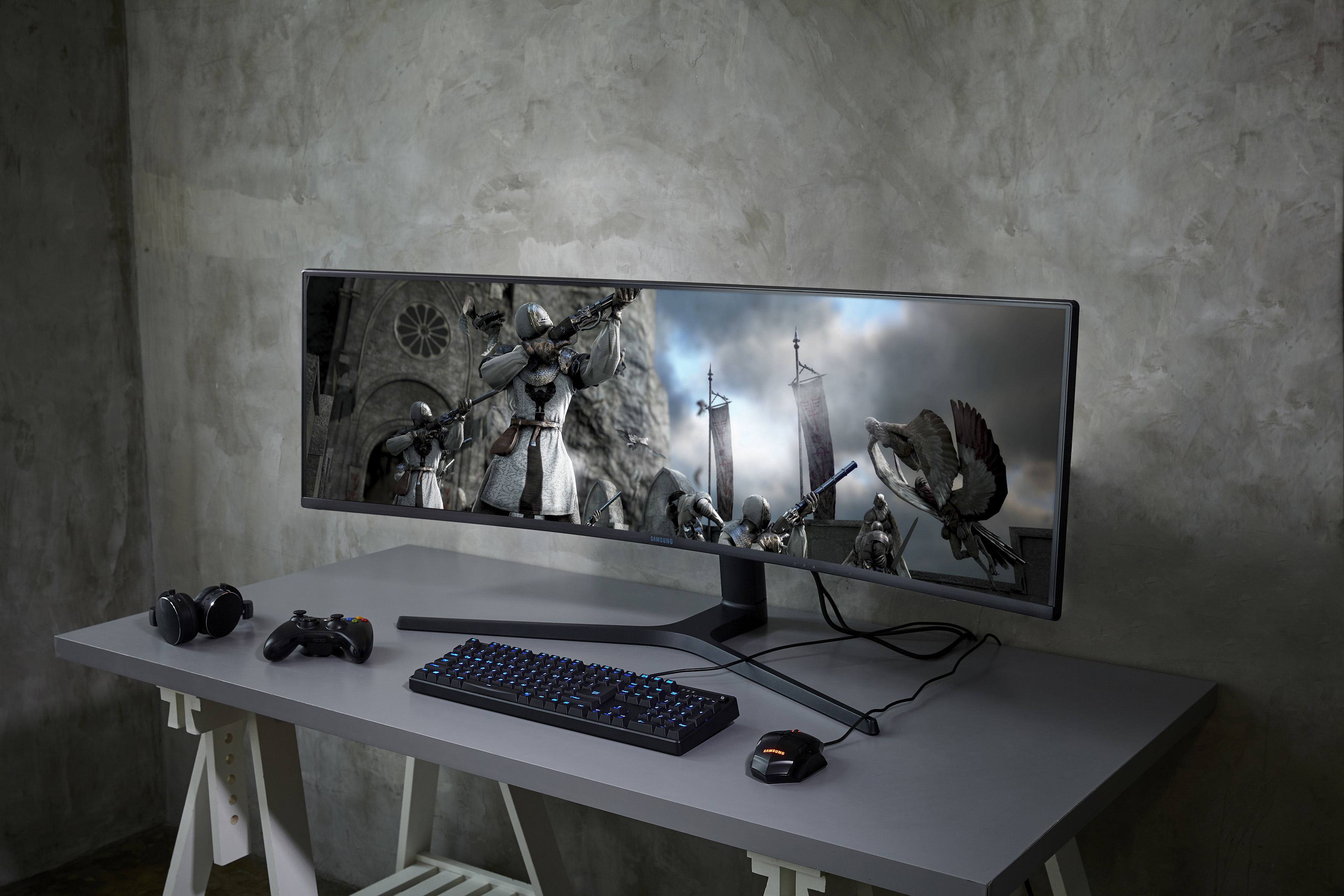 Samsung S Crg9 49 Quot Ultrawide Qled Gaming Monitor Features