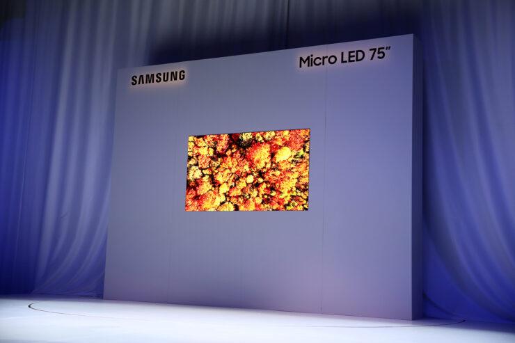 Samsung 75 inch microLED TV