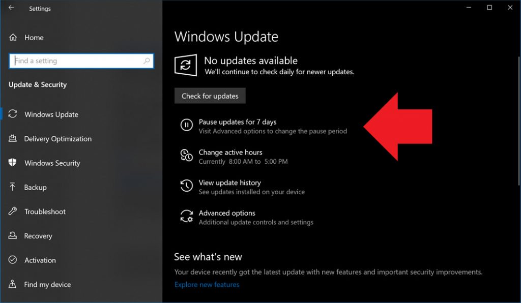 pause windows 10 updates on windows 10 home