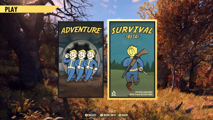 Fallout 76 update 7.5 survival mode