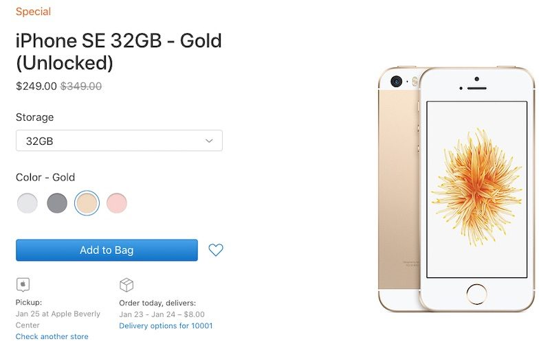 Apple Brings Back the iPhone SE on Clearance Store for an