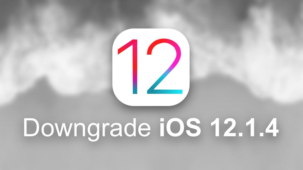 Downgrade iOS 12.1.4