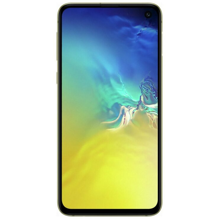 Galaxy S10e canary yellow high resolution images